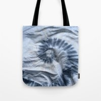 tie dye Tote Bags featuring TIE DYE by DAY OLD BLUES
