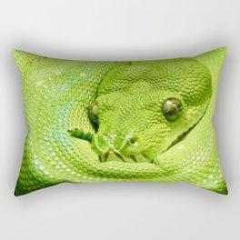 Green Tree Python Rectangular Pillow