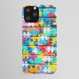 Rainbow Puzzle iPhone Case
