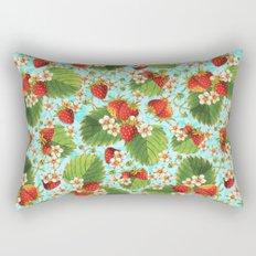Botanical Strawberries Rectangular Pillow