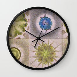 Underbuys Configuration Flowers  ID:16165-093621-68510 Wall Clock