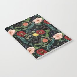 Botanical and Black Pugs Notebook