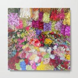 Vibrant Flower Garden Metal Print