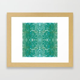 Jungle leaves Framed Art Print