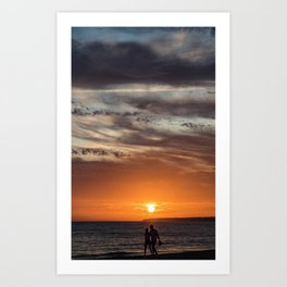 Romantic sunset at the Canary Islands Art Print