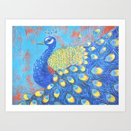 Peacock: Grace Under Fire Art Print