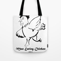 Man Eating Chicken 001 Tote Bag