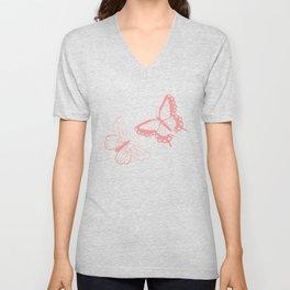 Butterfly pattern 012 Unisex V-Neck