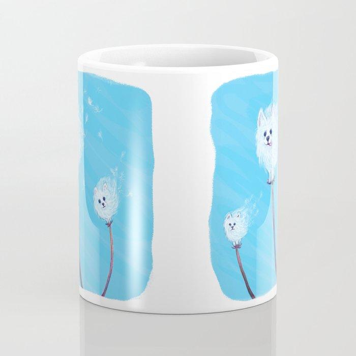 Pomeranian Dandelions Coffee Mug