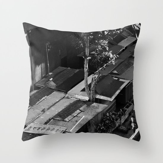Market From Above Throw Pillow