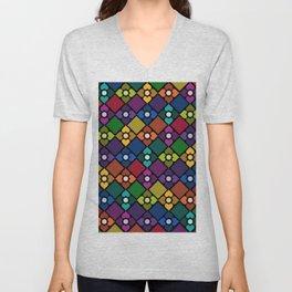 Colorful Floral Pattern Unisex V-Neck