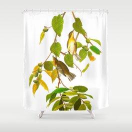Autumnal Warbler Bird Shower Curtain