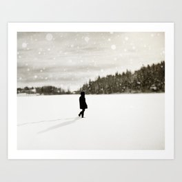 Winter Wandering Art Print