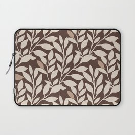 Leaves and Branches in Cream and Brown Laptop Sleeve
