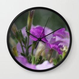 Blossoms in purple Wall Clock