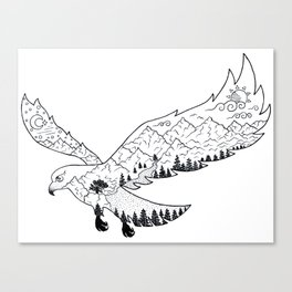 AfetMirzayeva Graphic Drawing Nature Birds Illustration Fantasy Canvas Print