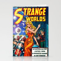 guardians of the galaxy Stationery Cards featuring STRANGE TALES - GALAXY GUARDIANS - REDUX by PD POP ART
