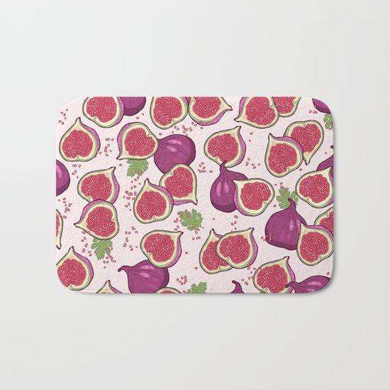 fig pattern Bath Mat