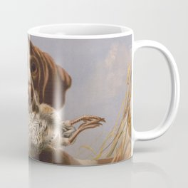 Vintage English Pointer Hunting Quail Painting (1869) Coffee Mug