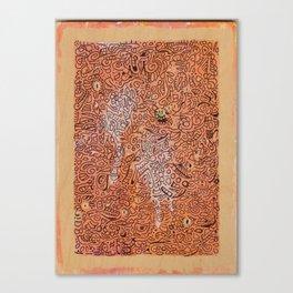 fall vibes orange doodle acrylic wood board Canvas Print