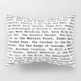 Banned Literature Internationally Print Pillow Sham
