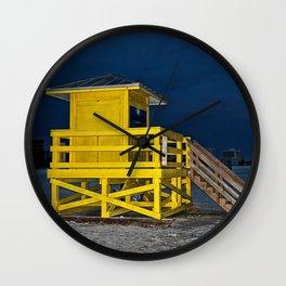 Goodnight Siesta Key Wall Clock