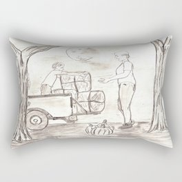 Halloween at the Ranch Rectangular Pillow