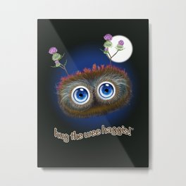 Wee Haggis by Night Metal Print