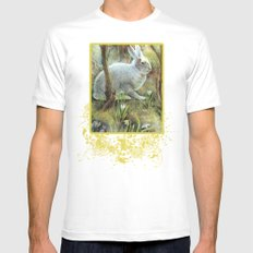 Hare White MEDIUM Mens Fitted Tee