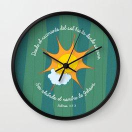Salmo 113:3 Wall Clock