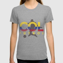 2018 Soccer Cup Colombia Flag COL Championship ISO T-shirt