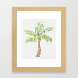 Palm Tree Watercolor Framed Art Print