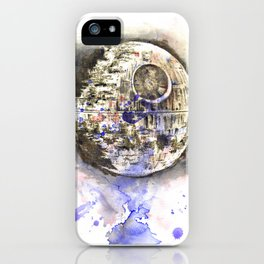 Star War Art Painting The Death Star iPhone Case