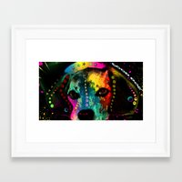 dogs Framed Art Prints featuring  dogs by mark ashkenazi