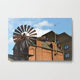 Fan Away the Heat Metal Print