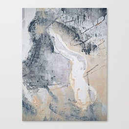 As Restless as the Sea: a minimal abstract painting by Alyssa Hamilton Art Canvas Print