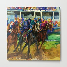 The Race No. 2B by Kathy Morton Stanion Metal Print