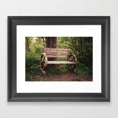 Benches Framed Art Print