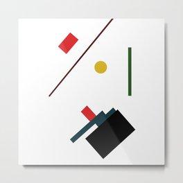 Geometric Abstract Malevic #7 Metal Print