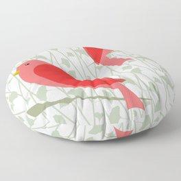 Oiseaux 2 Floor Pillow