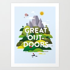 It's Great Outdoors Art Print