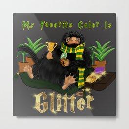SlytherPuff Niffler Metal Print