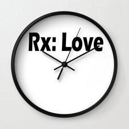 Rx: Love Wall Clock