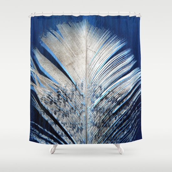 Feather feathers spiritual white and blue feather for Spiritual shower