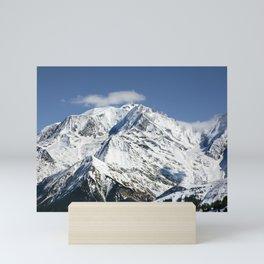 Mt. Blanc with clouds Mini Art Print