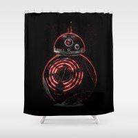 darth Shower Curtains featuring BB8 Darth  by Daniac Design