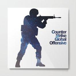 Space Army - Counter Strike Metal Print