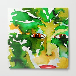 The Eyes of the Goddess of the Wood Metal Print
