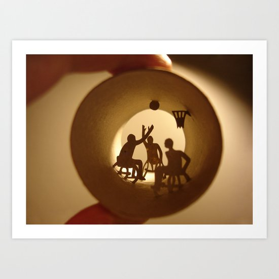 "Roll ""Basketball"" Art Print"