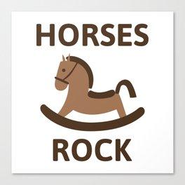 Horses Rock Canvas Print